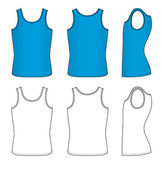 Outline blue vest vector illustration isolated on white EPS8 file available You can change the color or you can add your logo easily
