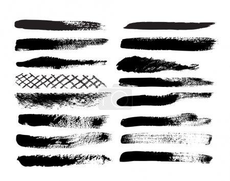 Illustration for Set of grunge brush isolated on white background - Royalty Free Image
