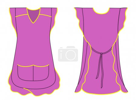 Woman apron with frills and pockets