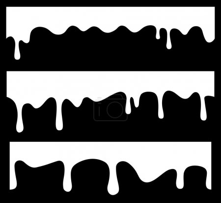 Vector seamless drips