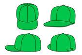 Green rap cap