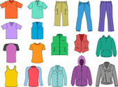 Man clothes colored collection (vector)