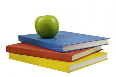 Three coloured books
