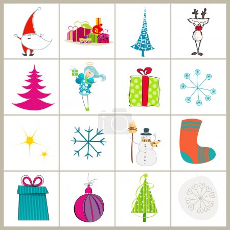 Set of cute Christmas illustrations