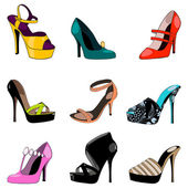 Set of elegant shoes