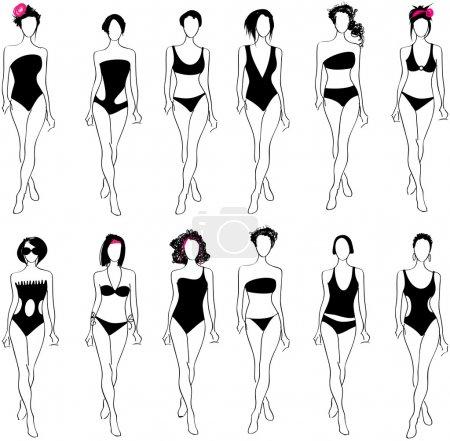 Elegant bikini women