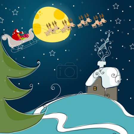Cute Christmas greeting card