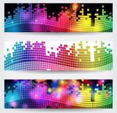 bannières web sur le thème musique élégante