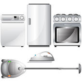 Set of realistic detailed household appliances