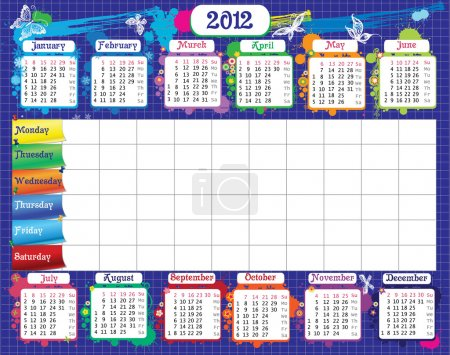 School timetable and calendar