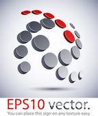 3D modern spiral logo icon