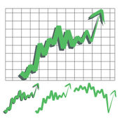 Stocks index upward arrow vector indicate rising and rebounds Please check my profile for downward arrow