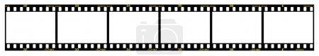 Illustration pour Cadres de film de diapositive 35mm en bande de film, avec des détails et une dimension précise . - image libre de droit