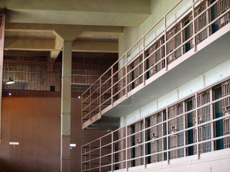 Rows of Prison cells inside Alcatraz Prison