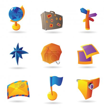 Icons for travel and leisure