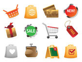 Icons for shopping
