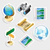 Samolepka ikona pro cestování