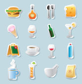 Sticker icons for food and drinks