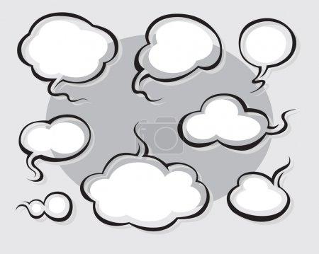 Illustration pour Mot de la bande dessinée et de la pensée des bulles avec un espace pour le texte - image libre de droit