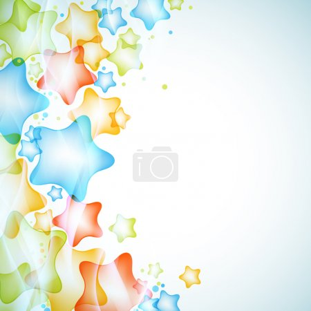 Glossy stars vector background