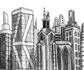 Urban vector buildings