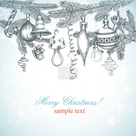 Illustration for Christmas decoration background - Royalty Free Image