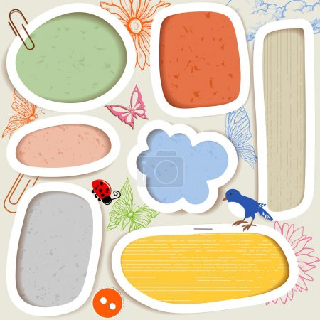 Illustration for Cute paper frames - Royalty Free Image