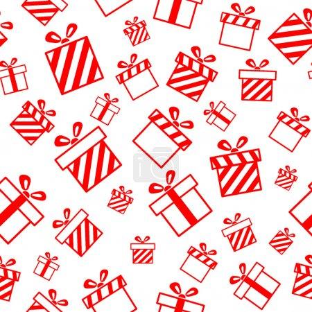 Illustration pour Modèle vectoriel sans couture avec boîtes-cadeaux EPS8 - image libre de droit