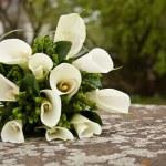 Wedding flowers on the stone...