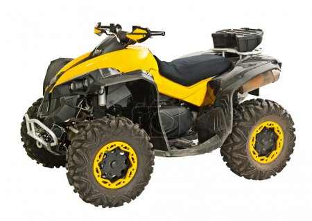 Yellow quadbike