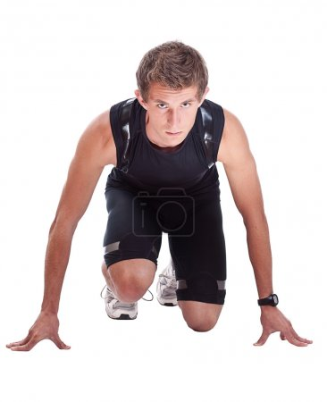 Portrait of a male athlete