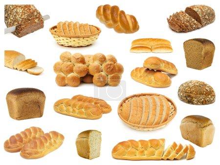Photo pour Définir les pains isolés sur un blanc - image libre de droit