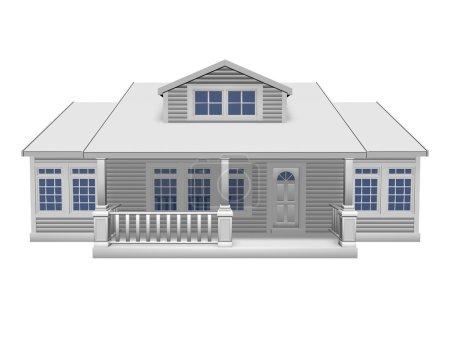 Photo pour Illustration 3D de petite maison sur fond blanc - image libre de droit