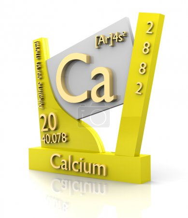 Calcium form Periodic Table of Elements - V2