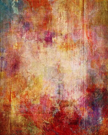 Paint textures on canvas
