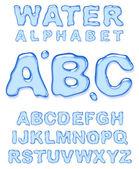 Water alphabet Vector letters set