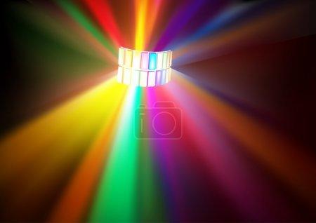 Photo pour Lumières Disco - illustration de l'arrière-plan de couleur - image libre de droit