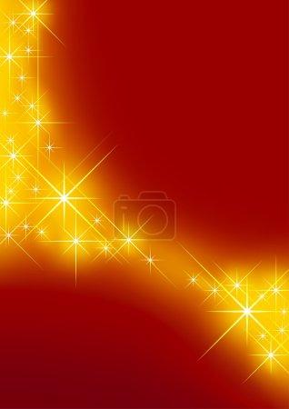 Foto de Fondo estrellado - fondo rojo y estrellas como ilustración - Imagen libre de derechos