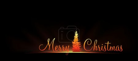 Photo for Merry Christmas Greeting Card - background illustration - Royalty Free Image