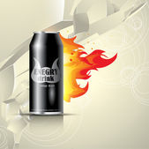 Vector can of energy drink