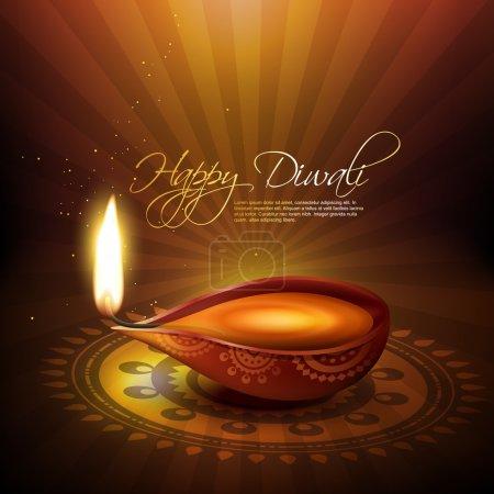 Illustration for Artistic diwali festival vector illustration - Royalty Free Image