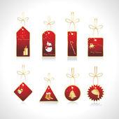 Vector set of christmas tags