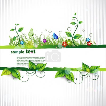 Illustration for Beautiful vector artistic nature background - Royalty Free Image