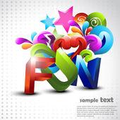 Vector fun background