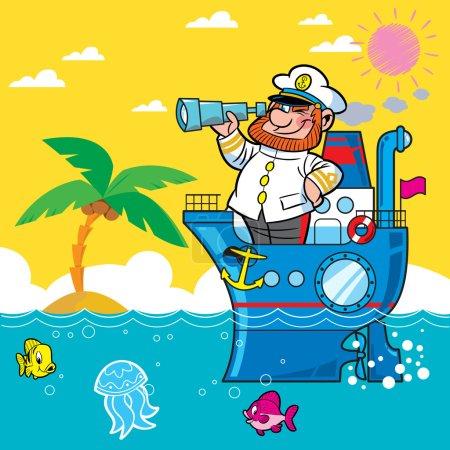 Cartoon captain
