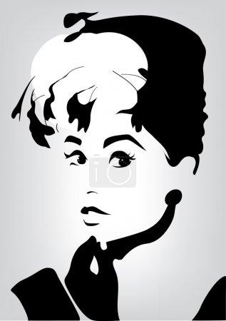 Одри Хепберн обложка иллюстрация