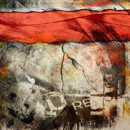 Photo for Cracked wall, underground grunge background - Royalty Free Image