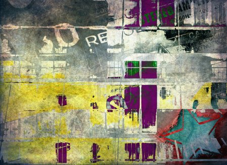 Photo for Abstract grunge color composition - Royalty Free Image