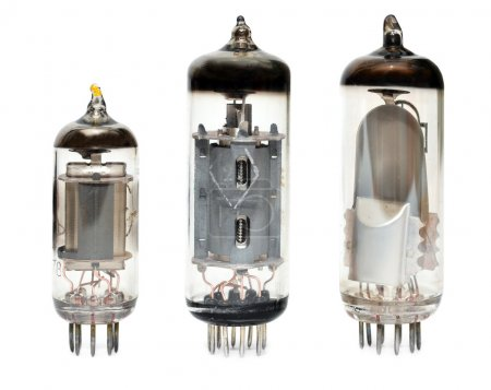 Photo for Old vacuum radio tubes isolated on white background - Royalty Free Image