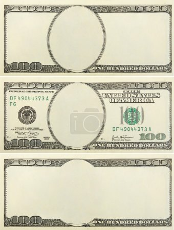 Photo for Set of blank money background for design - Royalty Free Image